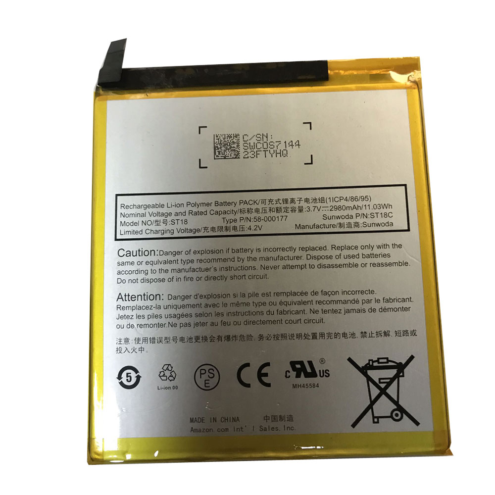 Replacement Tablets battery for Amazon Kindle Fire 7th Gen