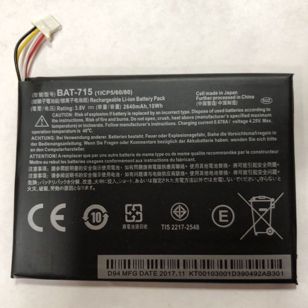 Acer IconiaTab B1 B1-A71 Battery