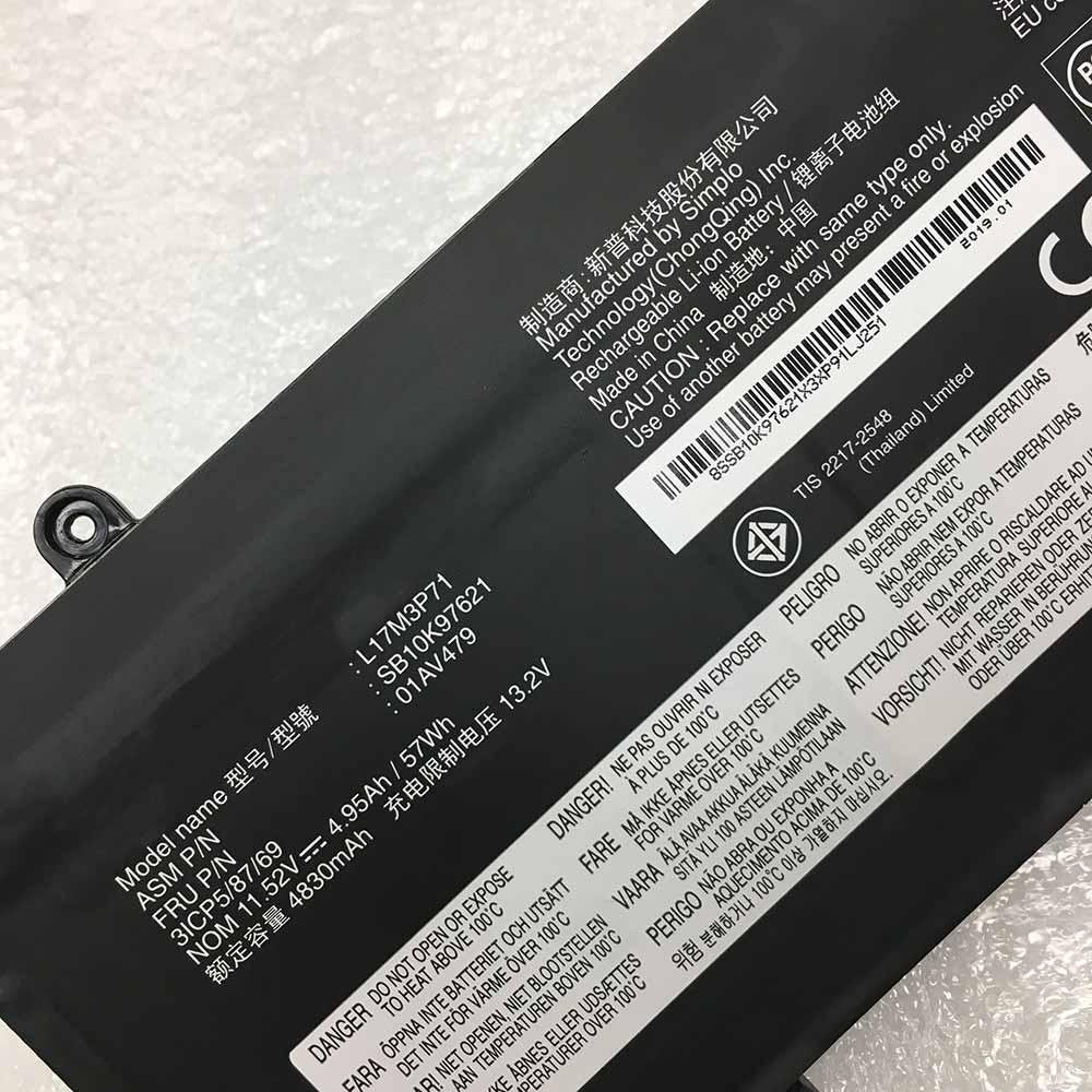 Lenovo ThinkPad T480S 01AV478 01AV479 battery