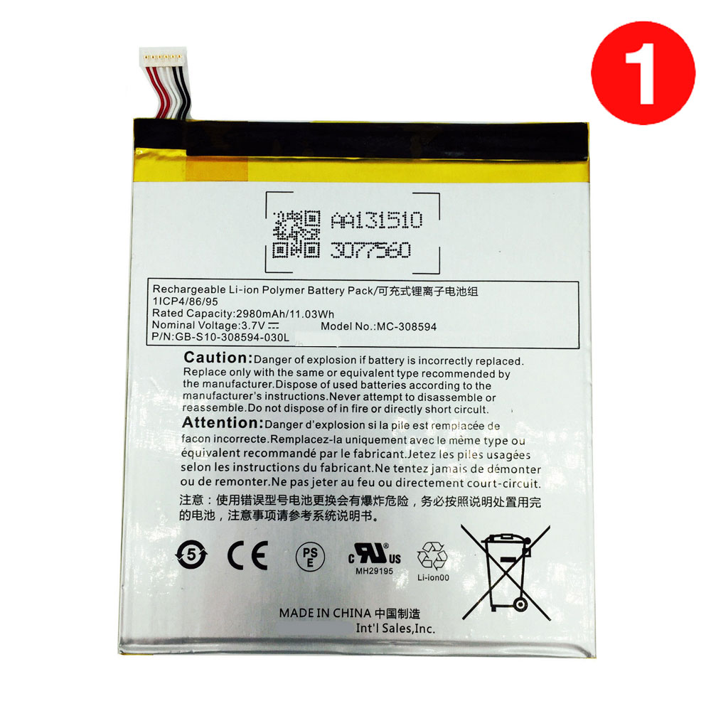 High grade Amazon MC 40 Li ion Tablets battery, Brand New MC ...