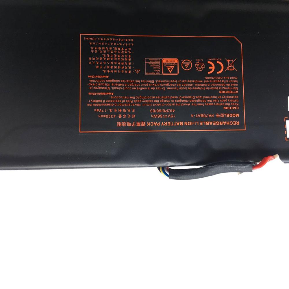 Clevo PA70HP6 G PA70HS G PA71HP6 G 4ICP66683 Series battery