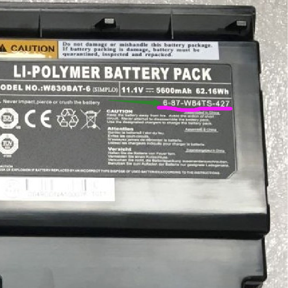 W830BAT-6 battery