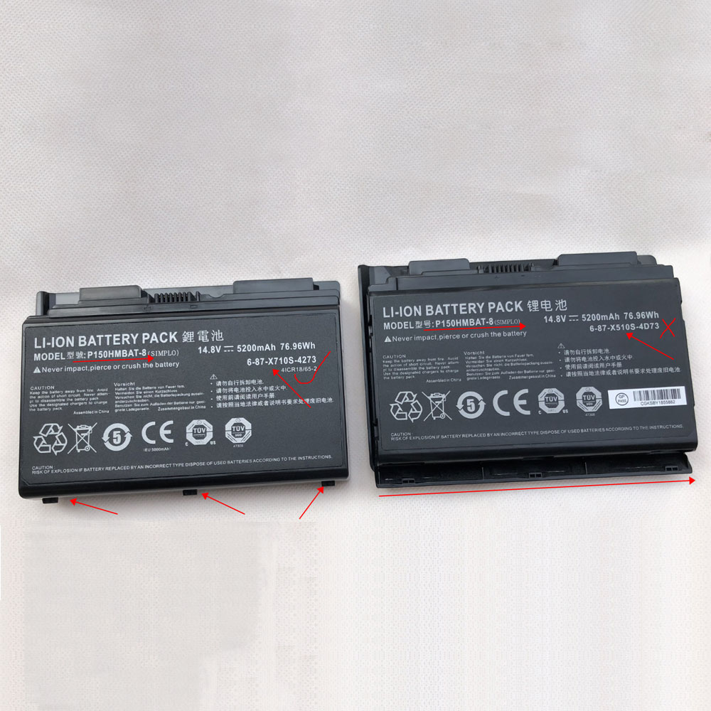 Genuine Clevo P150HMBAT-8 Li-ion Laptop battery, Brand New