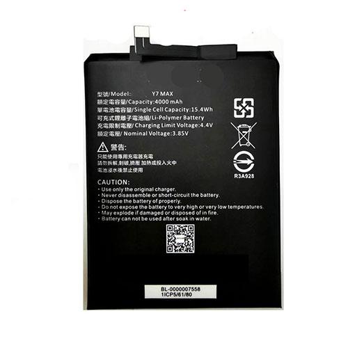 SUGAR Y7 MAX Battery